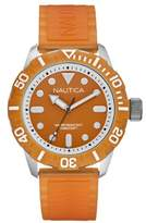 Nautica Men's Quartz Watch with Dial Analogue Display and Silicone Strap A09604G