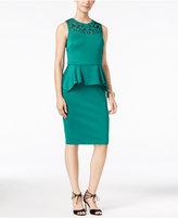 Thalia Sodi Cutout Peplum Sheath Dress