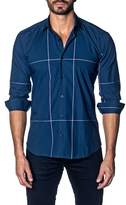 Jared Lang Colorblock Print Slim Fit Shirt