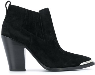 Ash Metal-Tipped Ankle Boots