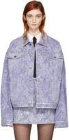 Marc Jacobs Purple Oversized Embellished Denim Jacket
