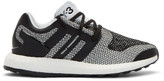 Y-3 White & Black Pureboost Sneakers