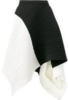 Proenza Schouler asymmetric pleated skirt - women - Polyester/Spandex/Elastane - 4