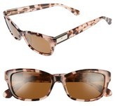 Kate Spade Women's Marilee 53Mm Polarized Sunglasses - Black/ Ivory