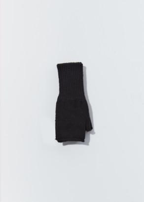 Mhl By Margaret Howell Felted Fingerless Gloves Black