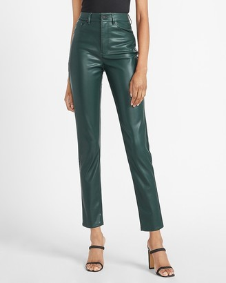 Express High Waisted Vegan Leather Slim Ankle Pant