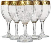 One Kings Lane Vintage Floral Gilt Rim Murano Wine Stems