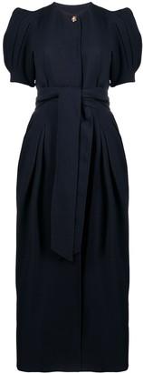 Gabriela Hearst Puff-Sleeve Maxi Dress