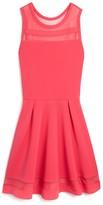 Sally Miller Girls' Mesh Inset Flared Dress - Sizes S-XL
