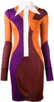 Givenchy colour block collared dress - women - Viscose - 36