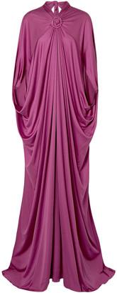 Reem Acra Draped Silk-jersey Gown