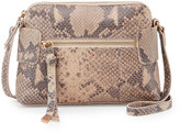 Foley + Corinna Emma Snake-Embossed Leather Crossbody Bag, Crush Snake