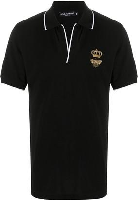 Dolce & Gabbana Bee Crown Polo Shirt