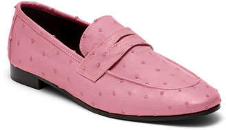 Couture Bougeotte Flaneur Ostrich Slip-On Flat Loafers, Pink