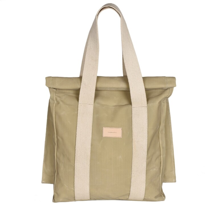 Thumbnail for your product : LaneFortyfive - The Basto Tote Bag - Bone White Waxed Canvas