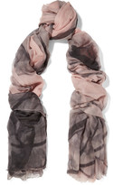 Brunello Cucinelli Printed Cashmere Scarf - Pastel pink