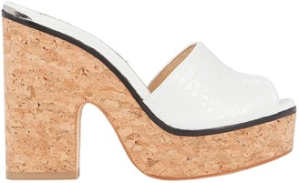 Jimmy Choo Deedee Croc-Embossed Platform Sandals