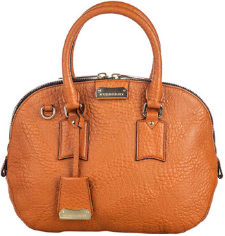 Burberry Brown Leather Small Orchard Satchel Bag