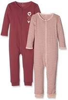Name It Baby Girls' Nmfnightsuit 2p Zip Dry Rose Noos Sleepsuit,pack of 2