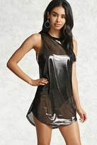 Forever 21 Mini Metallic Jersey Dress