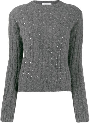 Philosophy di Lorenzo Serafini Embellished Cable Knit Sweater