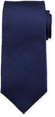 Isaia Dot Silk Tie