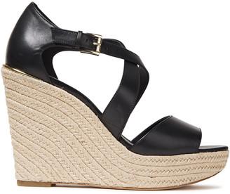 MICHAEL Michael Kors Abbott Leather Wedge Espadrille Sandals