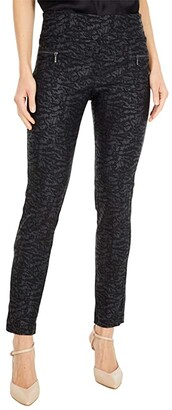 Elliott Lauren Liquid Skin Pull-On Pants with Zipper Pocket Detail (Black) Women's Clothing