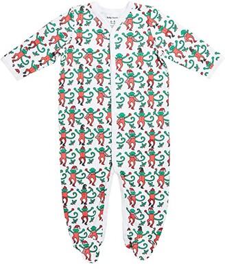 Roller Rabbit Monkey Mas Footie Pajamas (Infant) (Green) Kid's Jumpsuit & Rompers One Piece