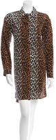 Elizabeth and James Cheetah Print Silk Dress