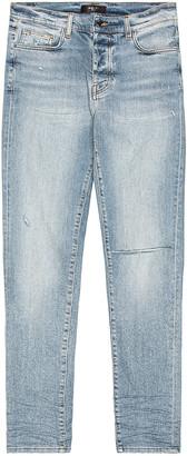 Amiri Slit Knee Jean in Authentic Indigo | FWRD