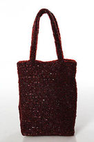 Moyna Red Beaded Double Strap Magnetic Popper 1 Pocket Mini Tote Handbag