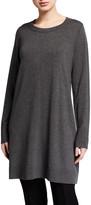 Eileen Fisher Lightweight Cozy Long-Sleeve Crewneck Tunic