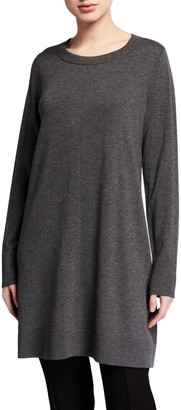 Eileen Fisher Lightweight Cozy Long-Sleeve Crewneck Tunic