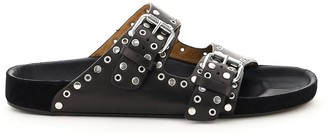 Isabel Marant LENNYO STUDDED MULES 36 Black Leather