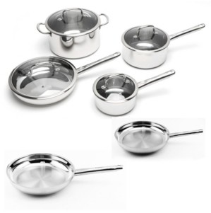 Berghoff EarthChef Boreal 10-Pc. Stainless Steel Cookware Set