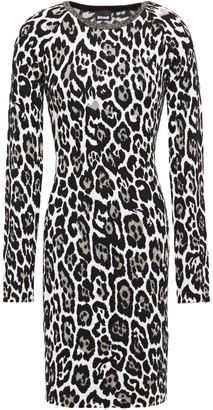 Just Cavalli Metallic Leopard-jacquard Mini Dress