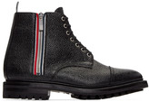 Thom Browne Black Side Zip Boots