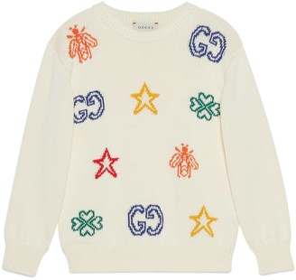 Gucci Children's cotton sweater with symbols