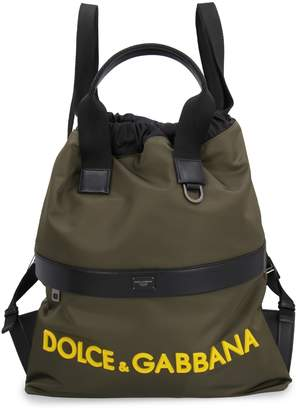 Dolce & Gabbana Nylon Backpack With Leather Details