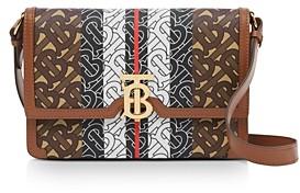 Burberry Small Monogram Stripe E-Canvas Crossbody