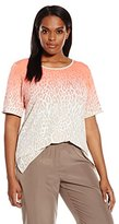 Calvin Klein Women's Plus-Size Printed Top with Piping