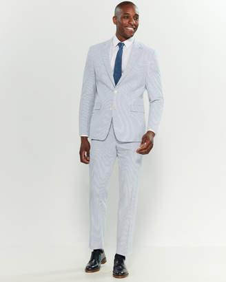 Tommy Hilfiger Two-Piece Blue & White Seersucker Suit