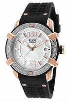 Elini Barokas Women's ELINI-20005D-RG-02-SB Spirit Analog Display Swiss Quartz Black Watch