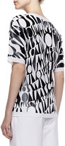 Missoni Logo-Letter Faux-Leather Tee