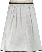 Rag & Bone Svea grosgrain-trimmed striped linen-blend skirt