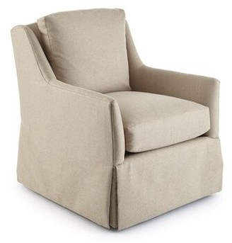 Square Feathers Howard Swivel Armchair Upholstery Material: Como Velvet Camel