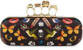 Alexander McQueen Obsession Knuckle Box Clutch Bag, Black/Multi