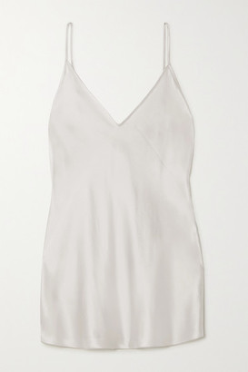 Max Mara Leisure Lucca Silk-blend Camisole - Silver