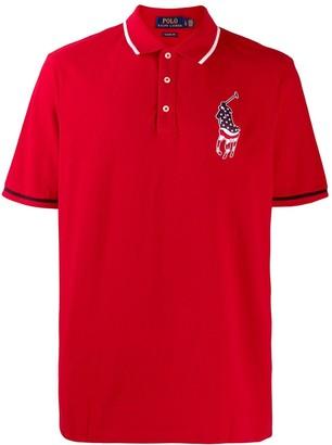 Polo Ralph Lauren USA patch polo shirt